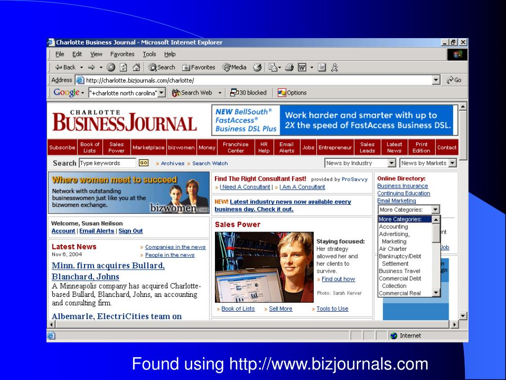 Found using http://www.bizjournals.com