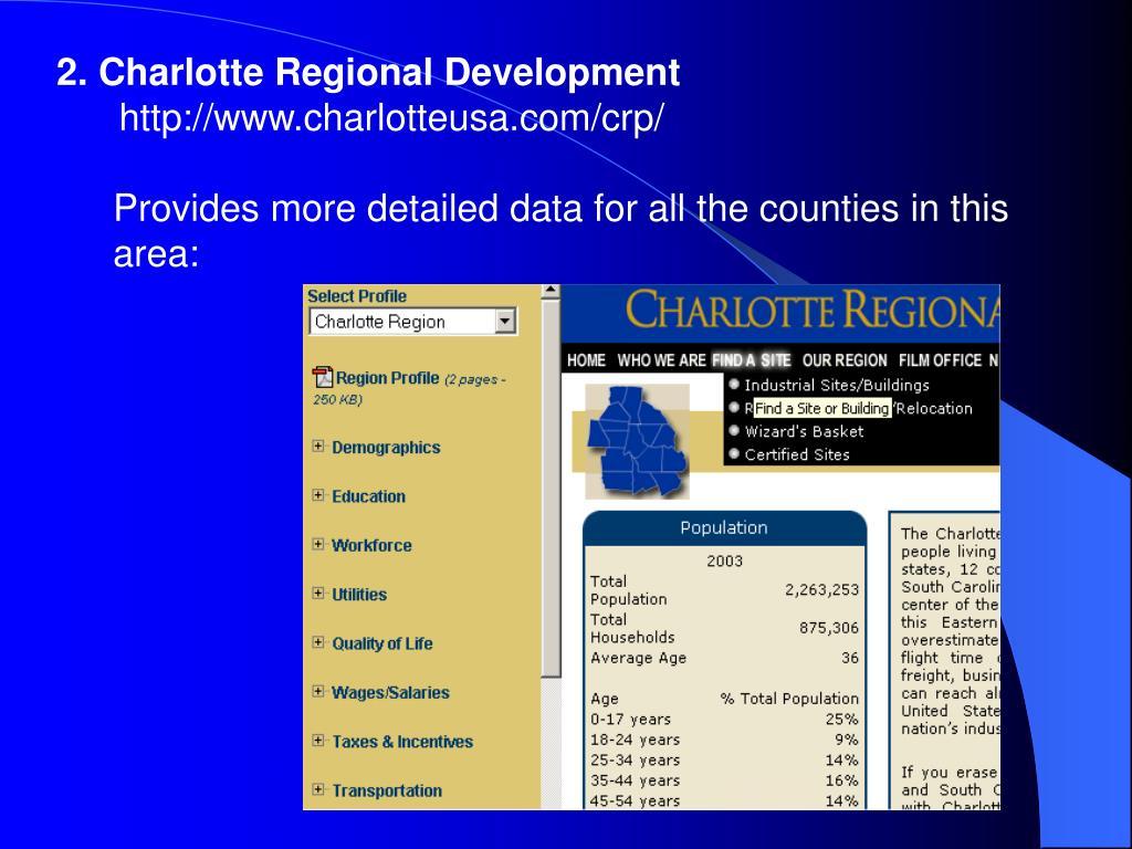 2. Charlotte Regional Development