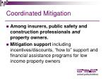 coordinated mitigation