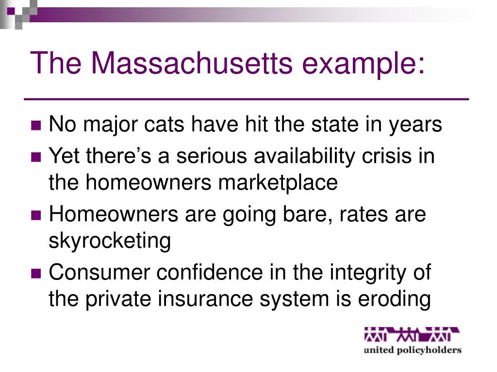 The Massachusetts example: