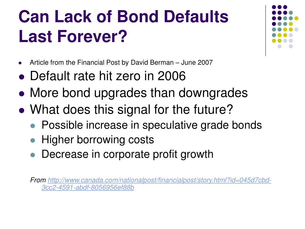 Can Lack of Bond Defaults Last Forever?