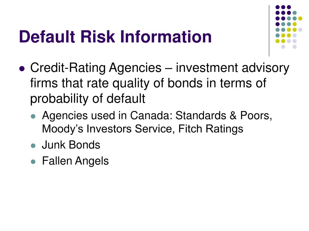 Default Risk Information