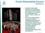 forest stewardship council conclusion
