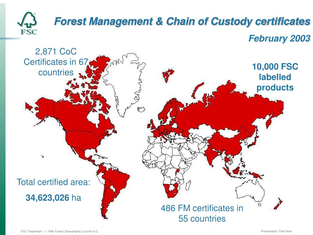 Forest Management & Chain of Custody certificates