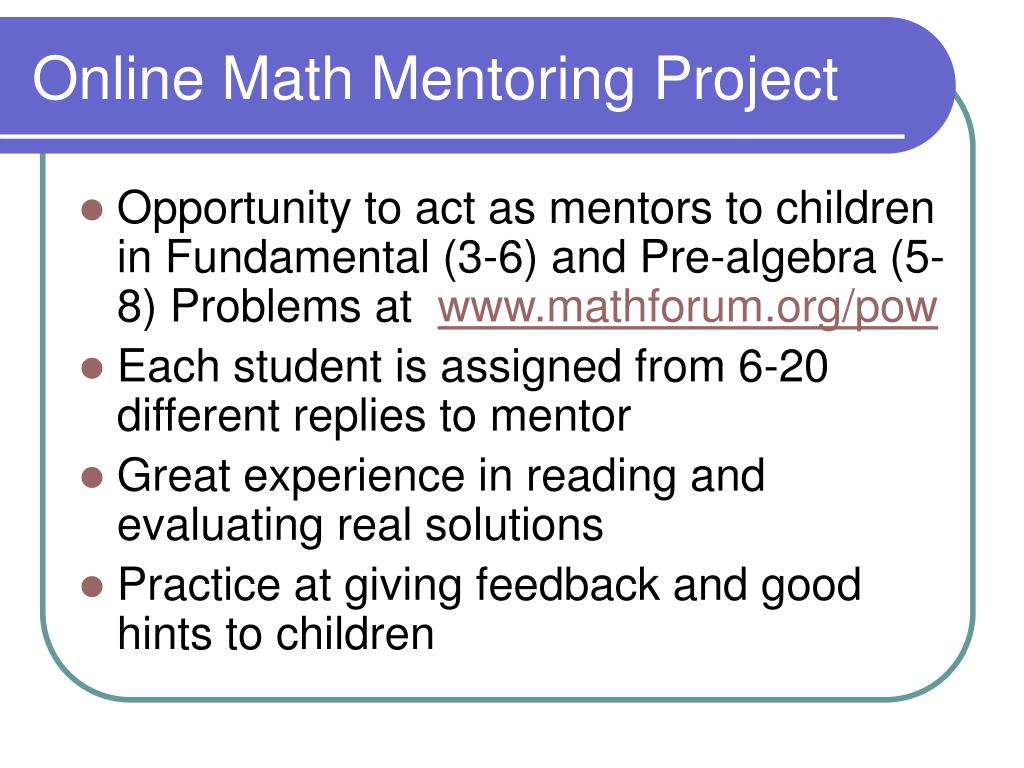 Online Math Mentoring Project