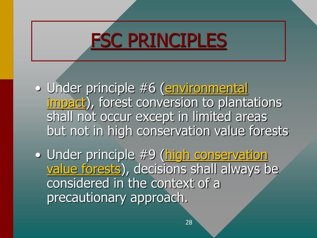 FSC PRINCIPLES