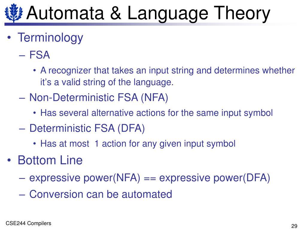Automata & Language Theory