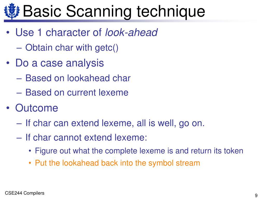 Basic Scanning technique