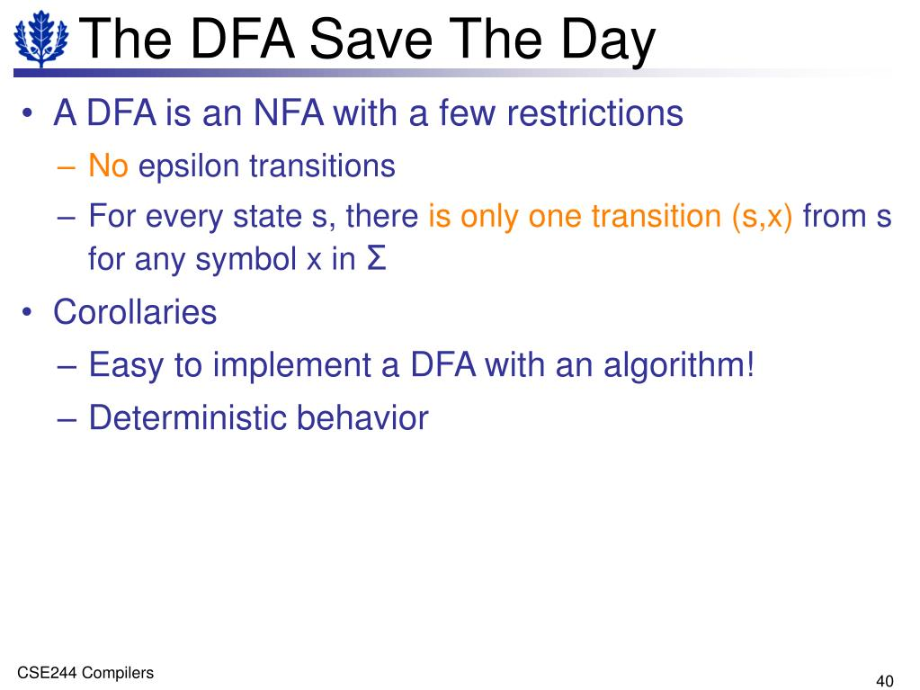 The DFA Save The Day