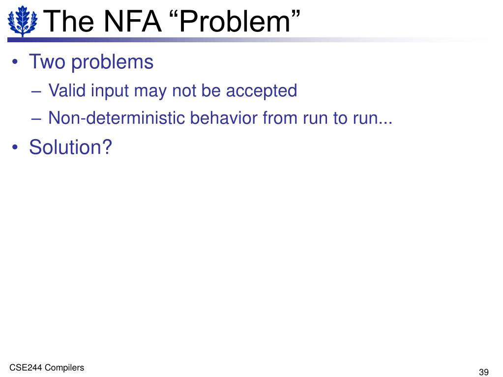 "The NFA ""Problem"""
