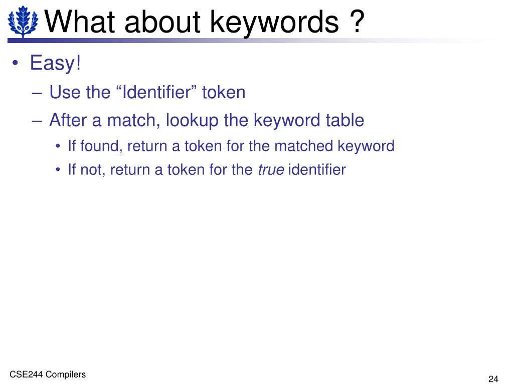 What about keywords ?