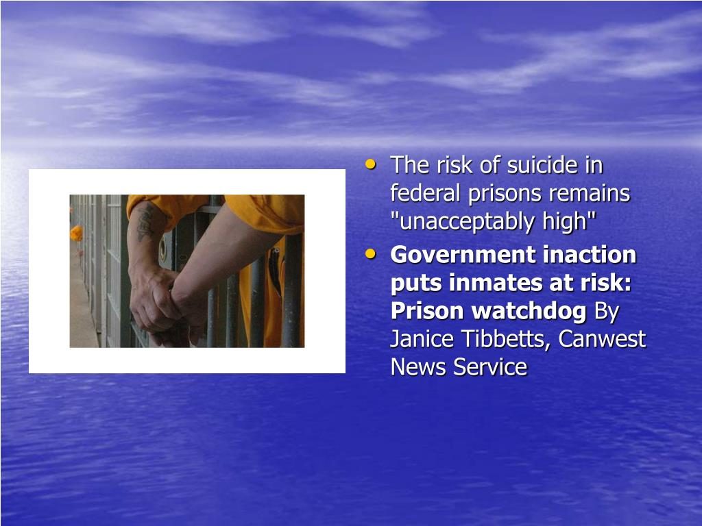 "The risk of suicide in federal prisons remains ""unacceptably high"""