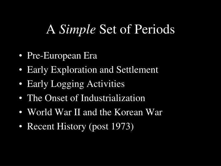 A simple set of periods