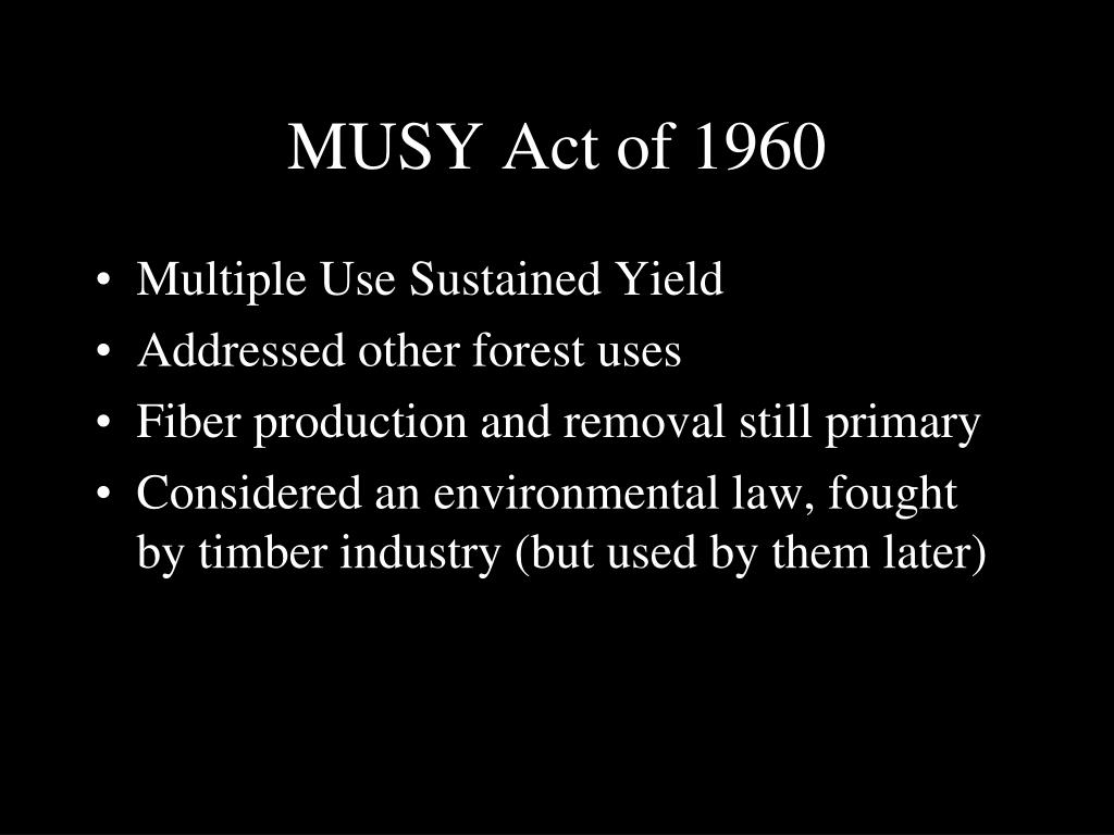 MUSY Act of 1960