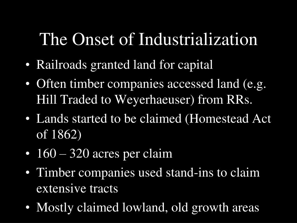 The Onset of Industrialization