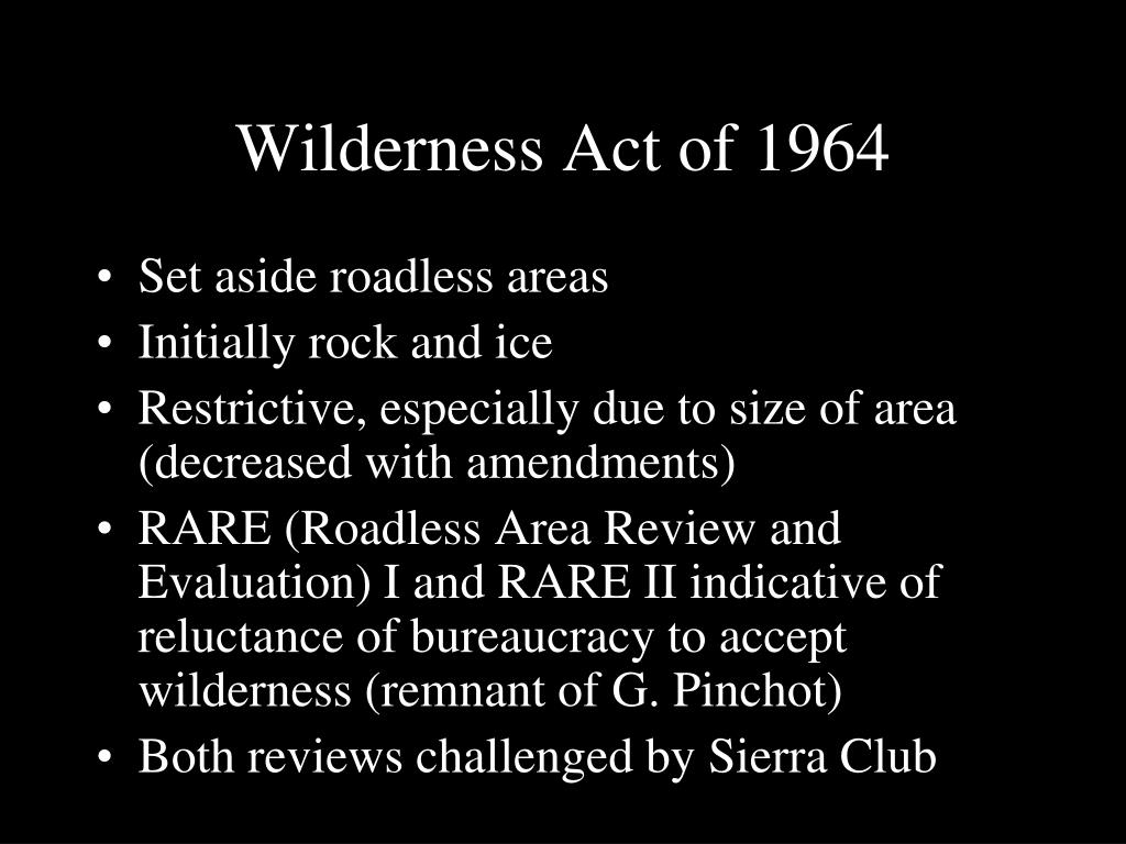 Wilderness Act of 1964
