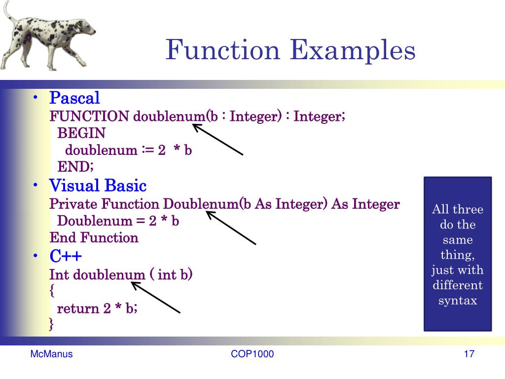 Function Examples