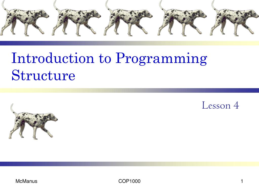 Introduction to Programming Structure