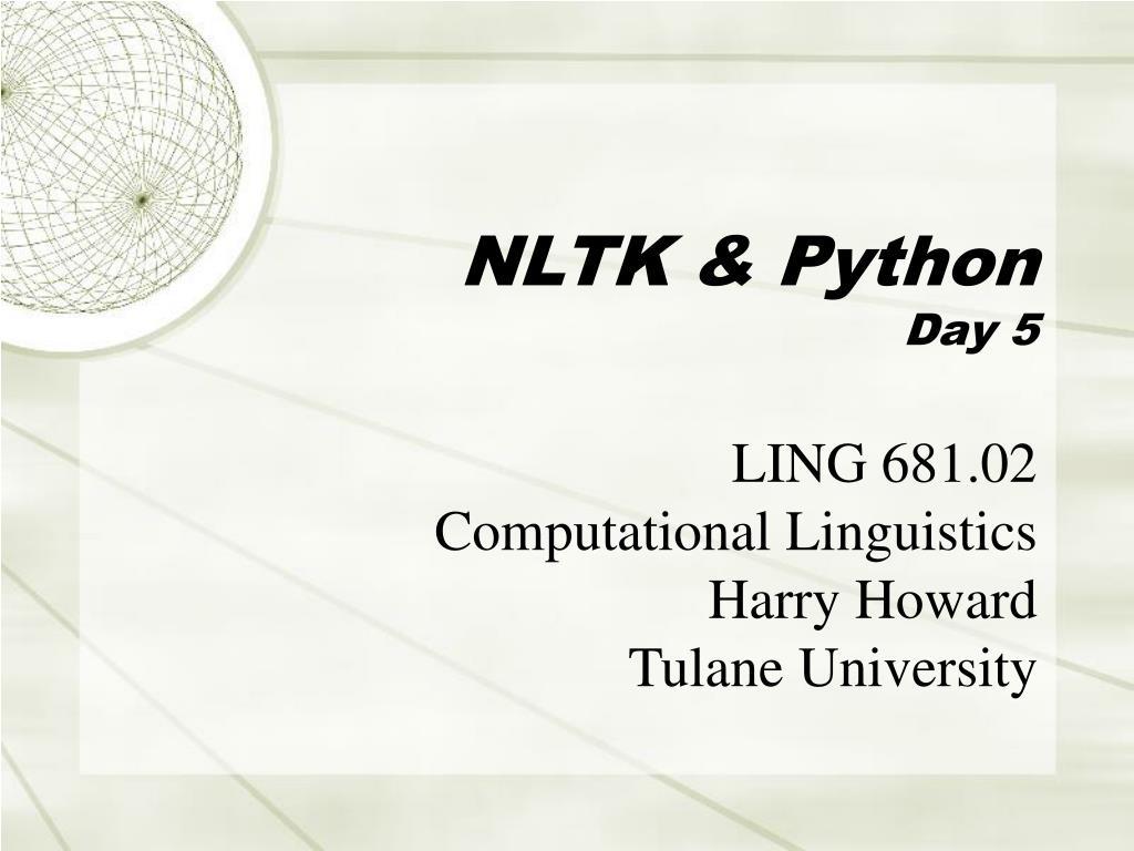 NLTK & Python
