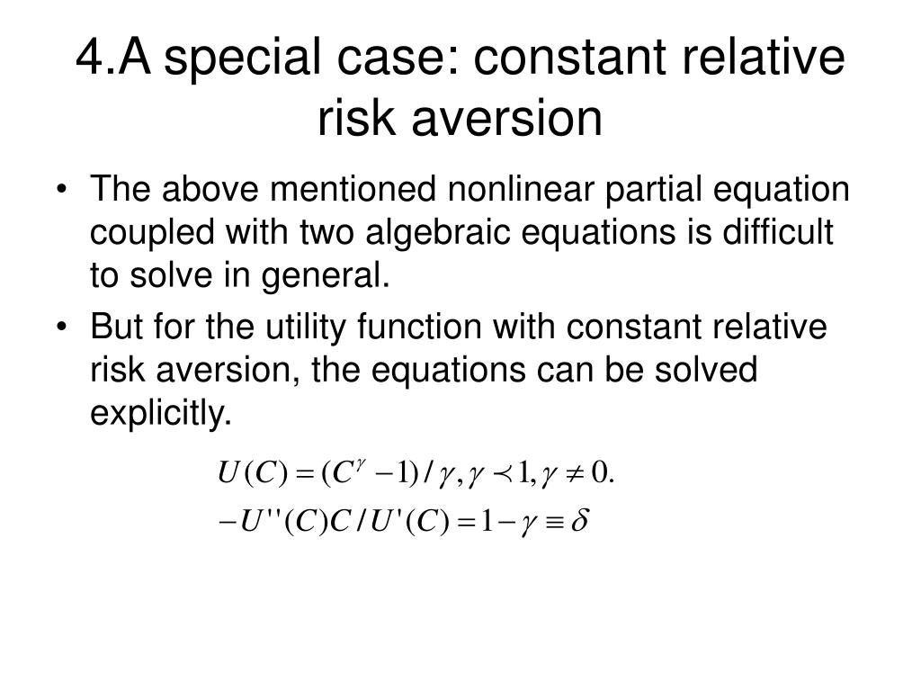4.A special case: constant relative risk aversion