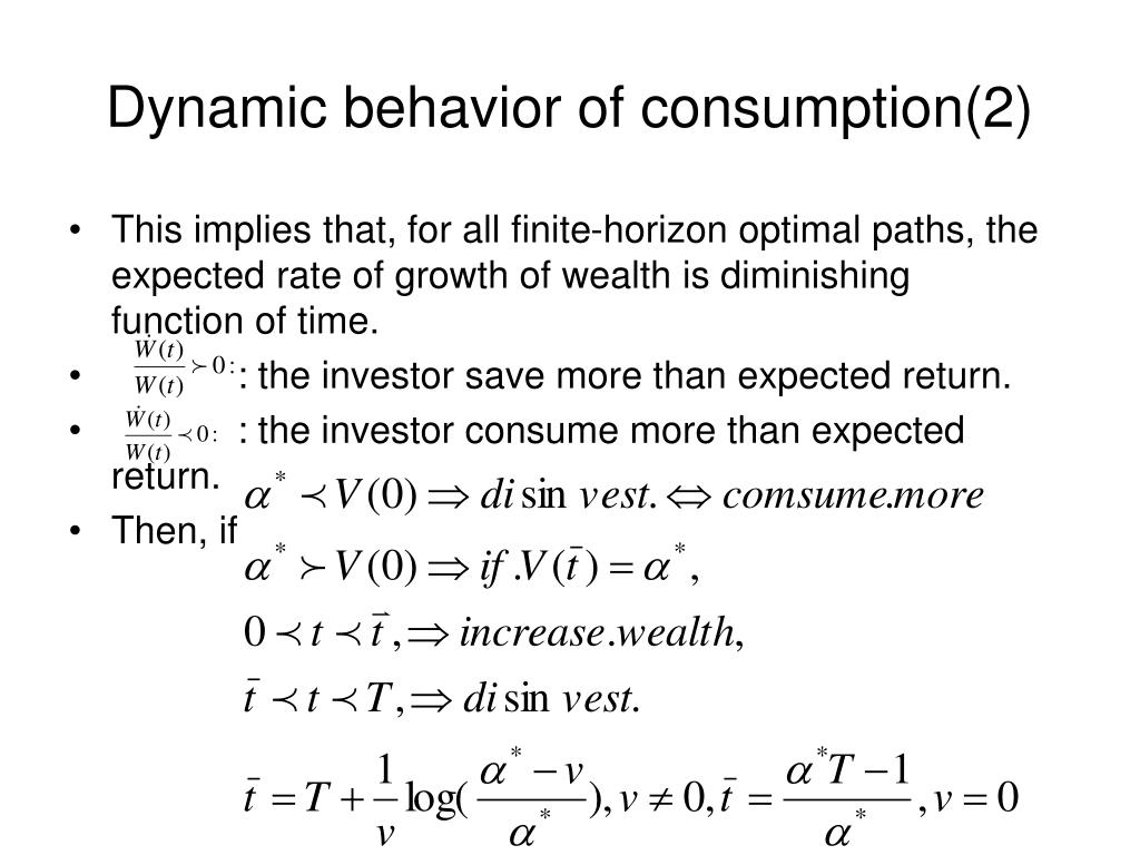 Dynamic behavior of consumption(2)
