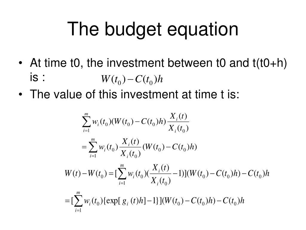 The budget equation