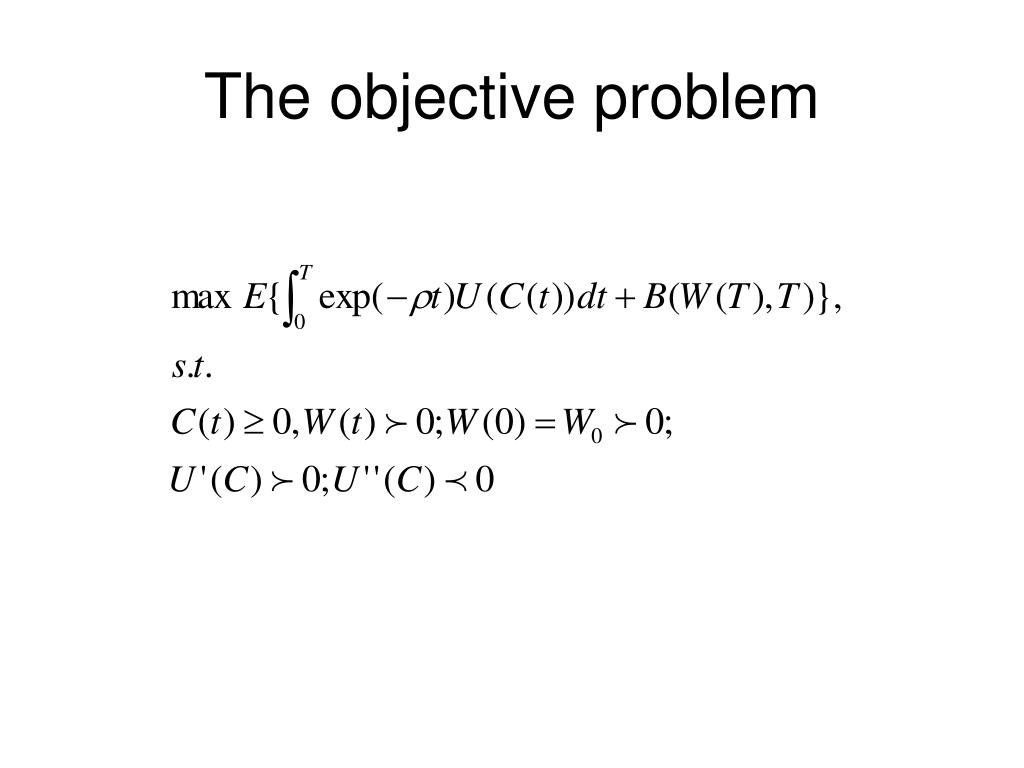 The objective problem