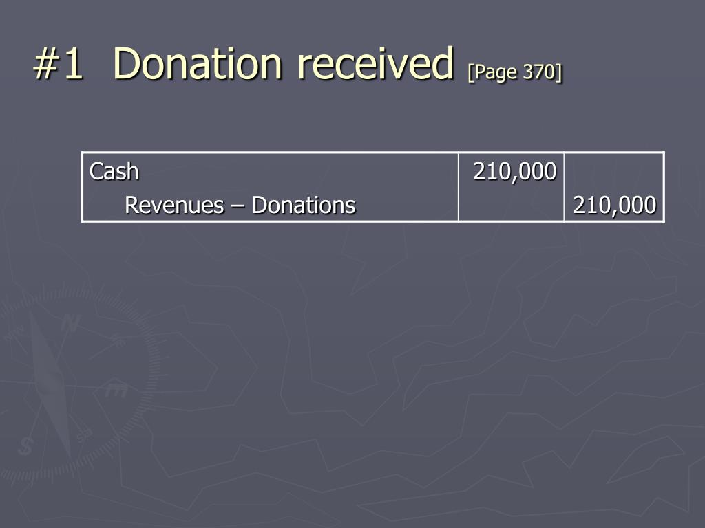#1  Donation received