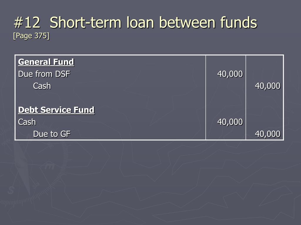 #12  Short-term loan between funds