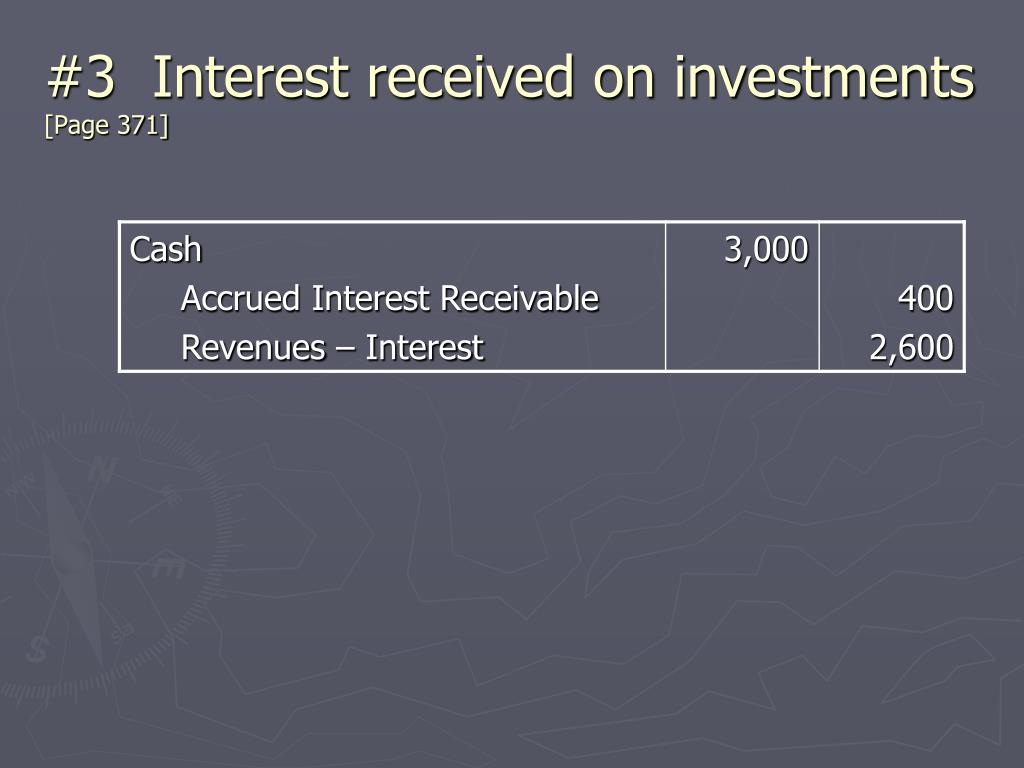 #3  Interest received on investments