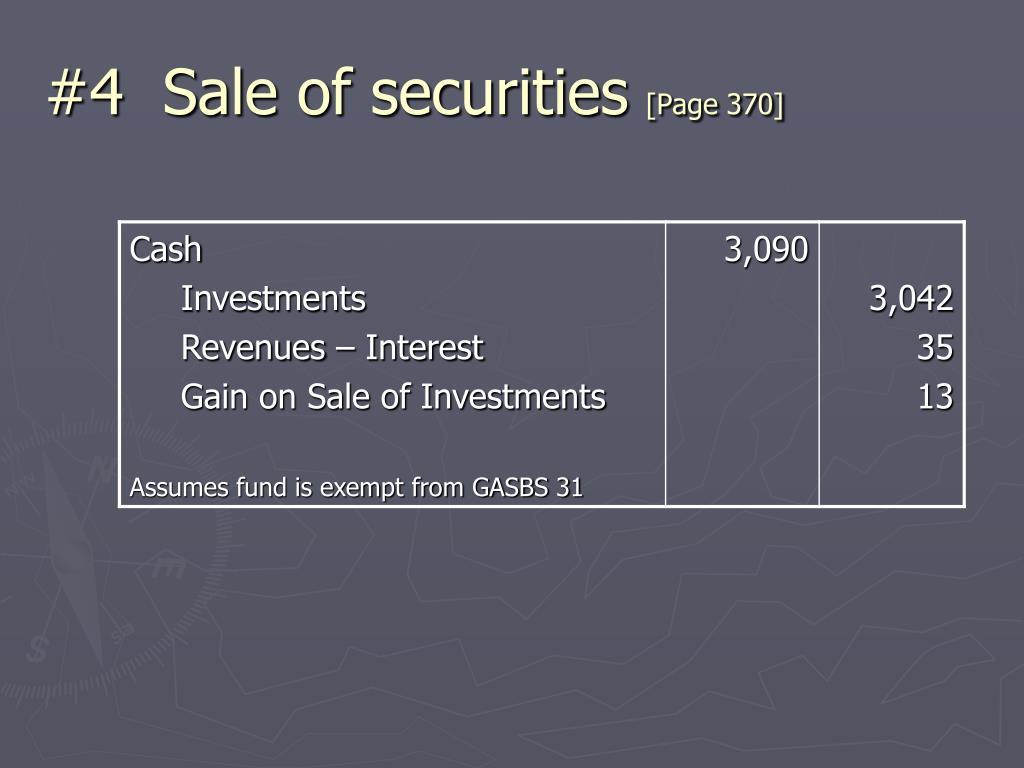 #4  Sale of securities