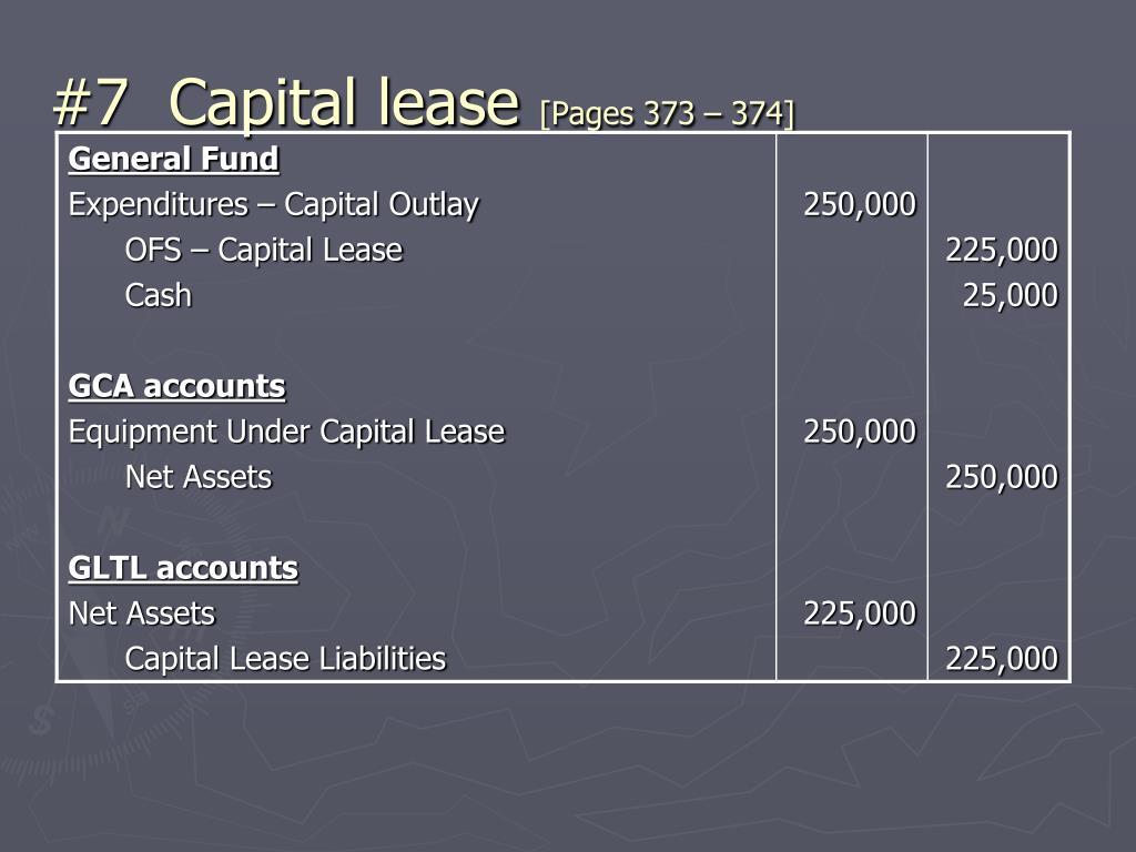 #7  Capital lease
