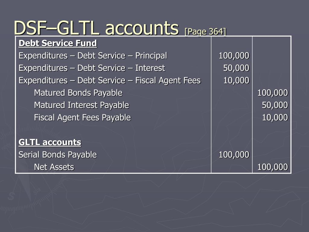 DSF–GLTL accounts