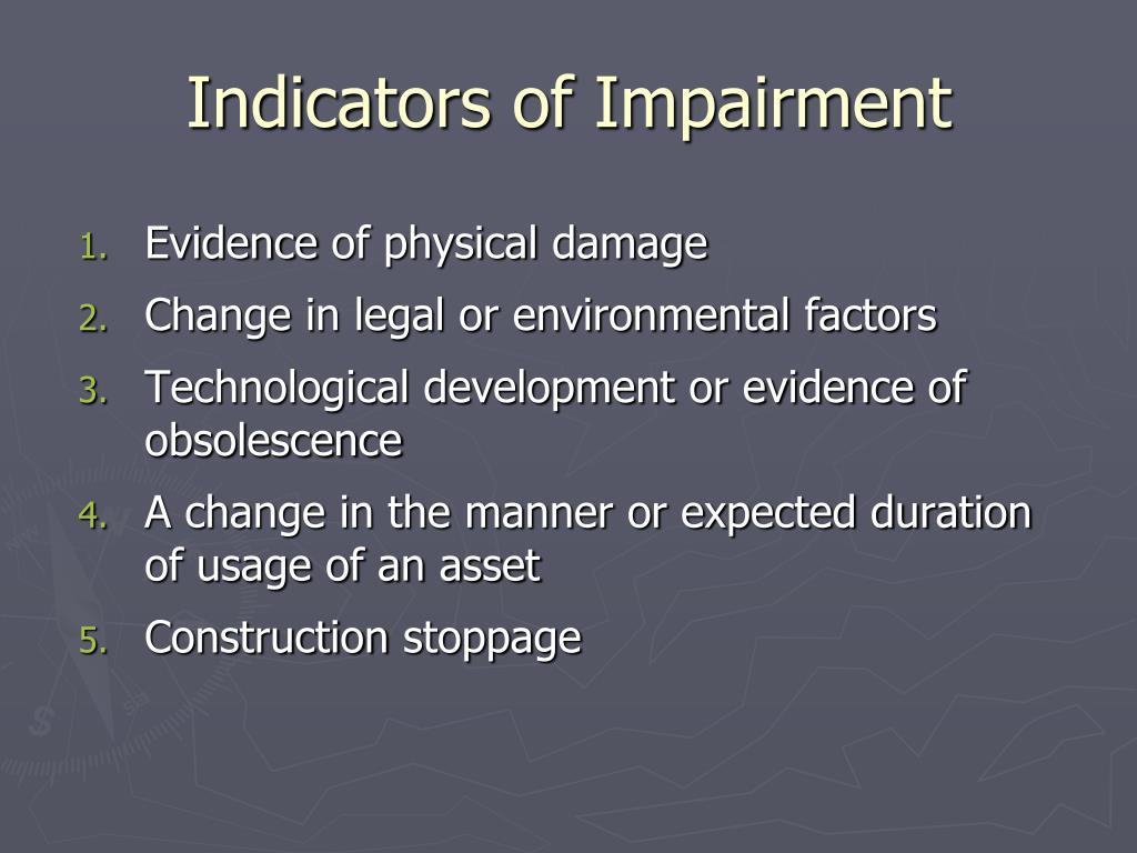 Indicators of Impairment