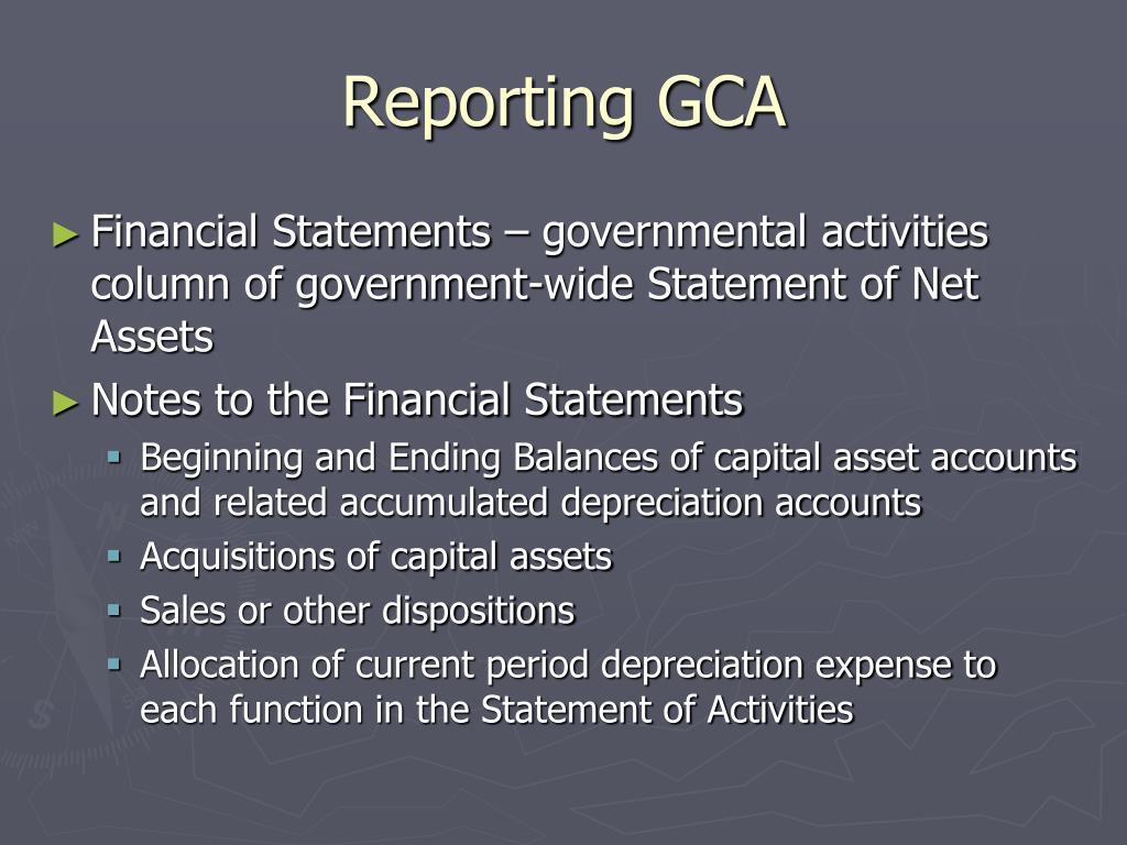 Reporting GCA