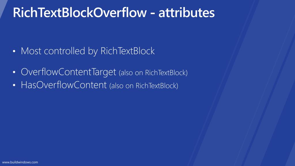 RichTextBlockOverflow - attributes