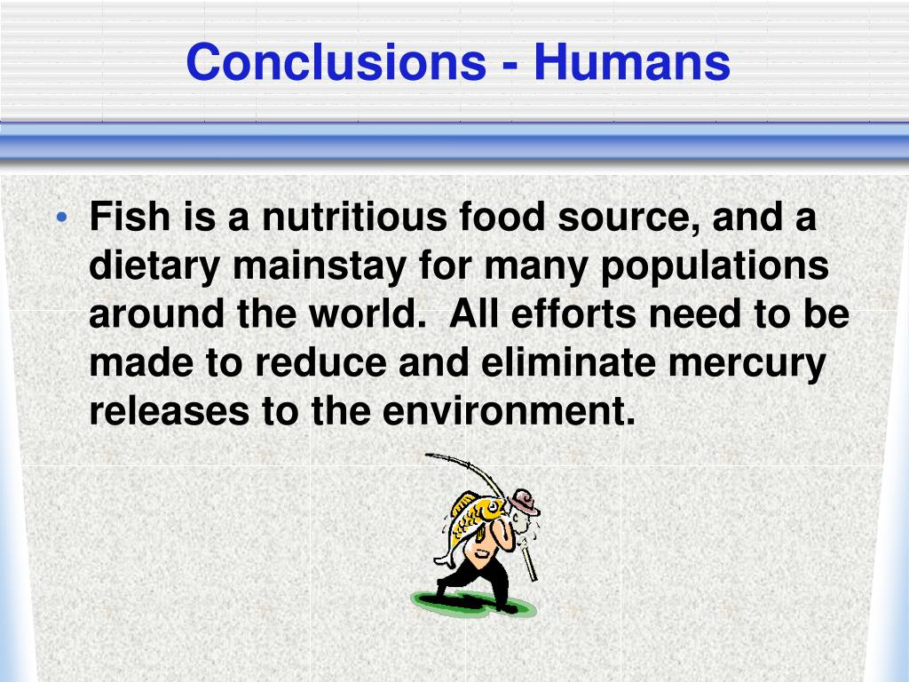 Conclusions - Humans
