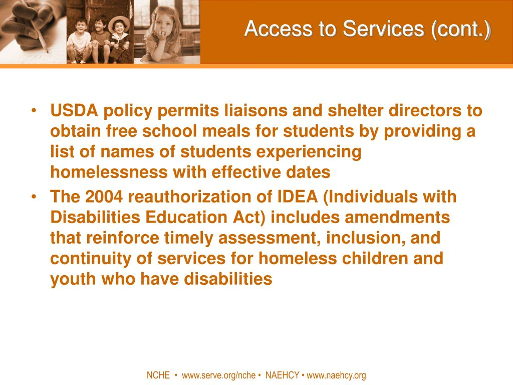 Access to Services (cont.)