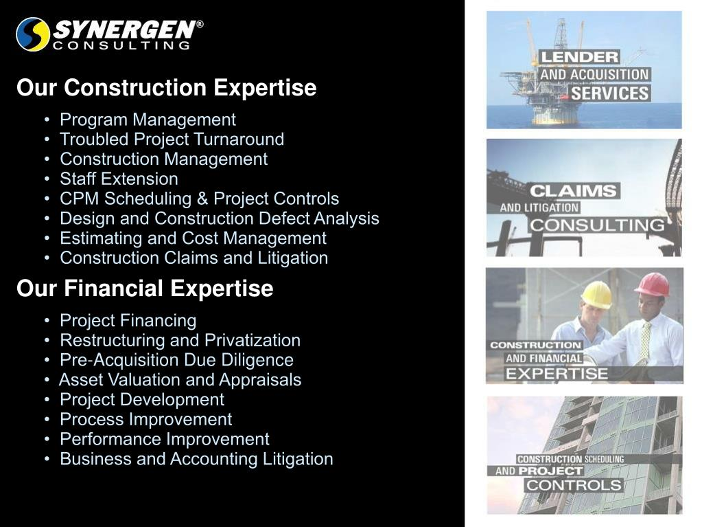 Our Construction Expertise