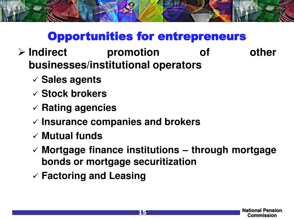Opportunities for entrepreneurs