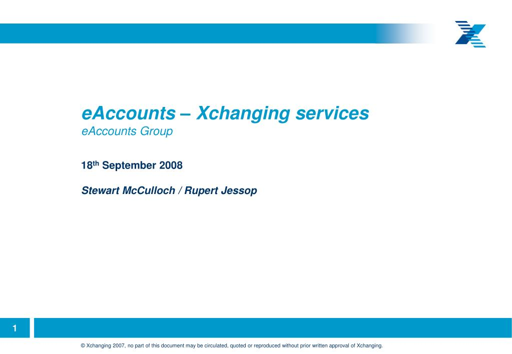 eAccounts – Xchanging services