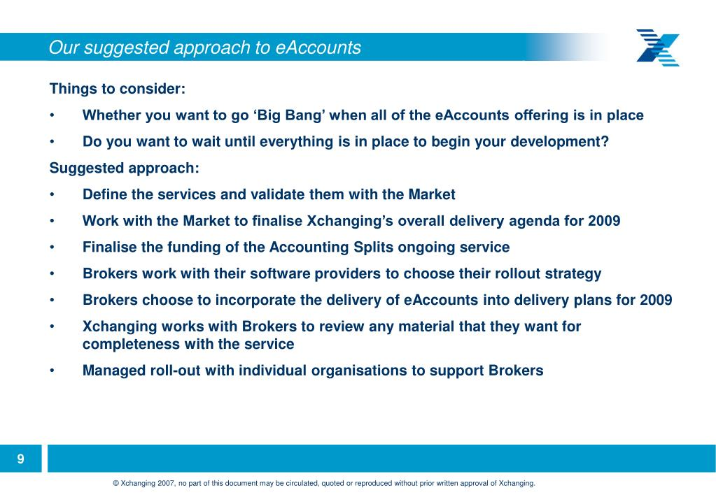 Our suggested approach to eAccounts