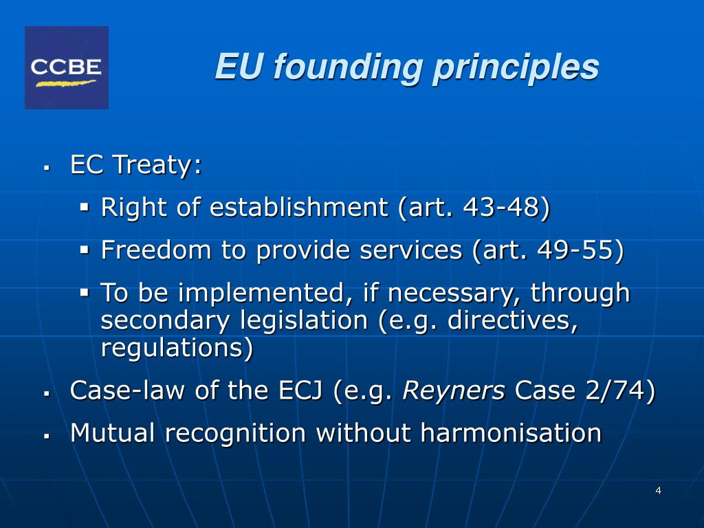 EU founding principles