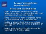 lawyers establishment directive 98 5 ec