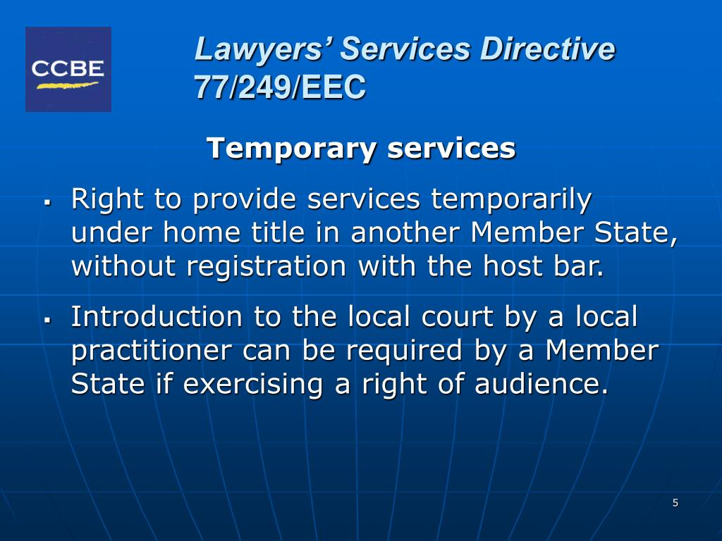 Lawyers' Services Directive