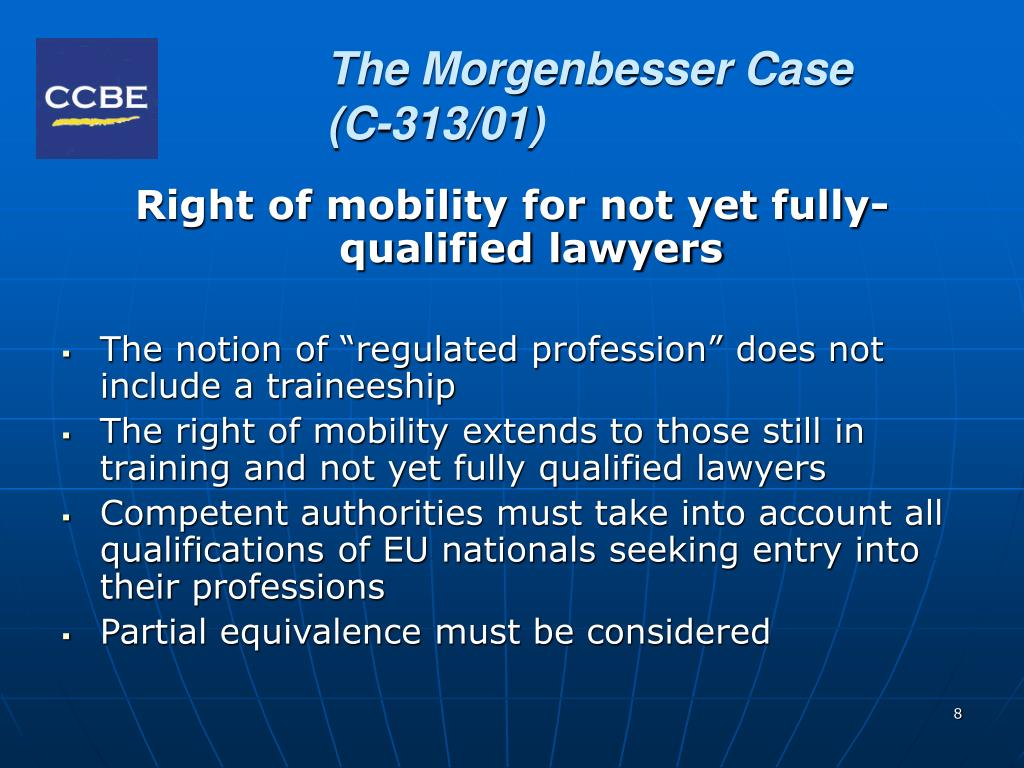 The Morgenbesser Case