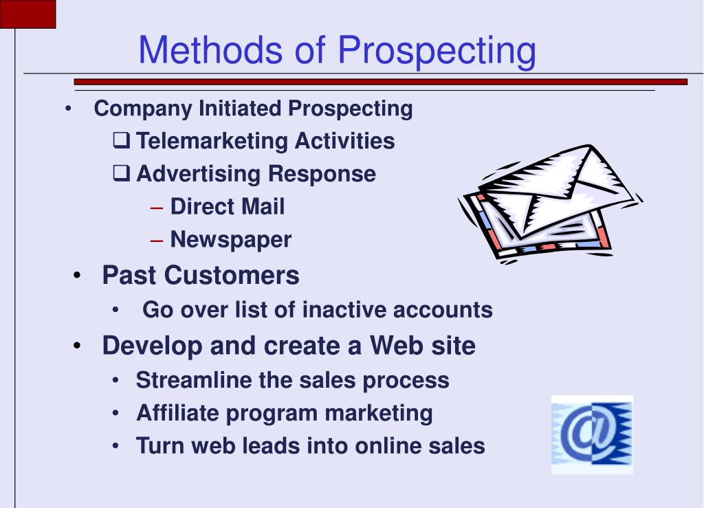 Company Initiated Prospecting