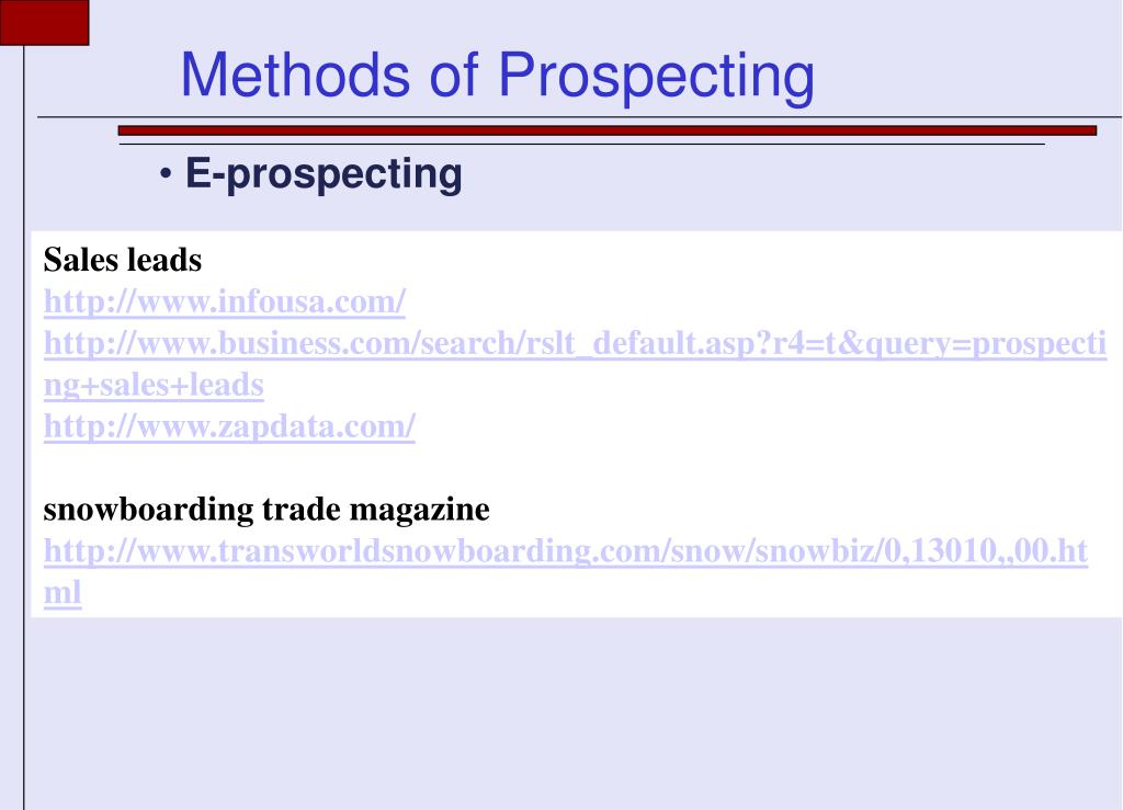 E-prospecting