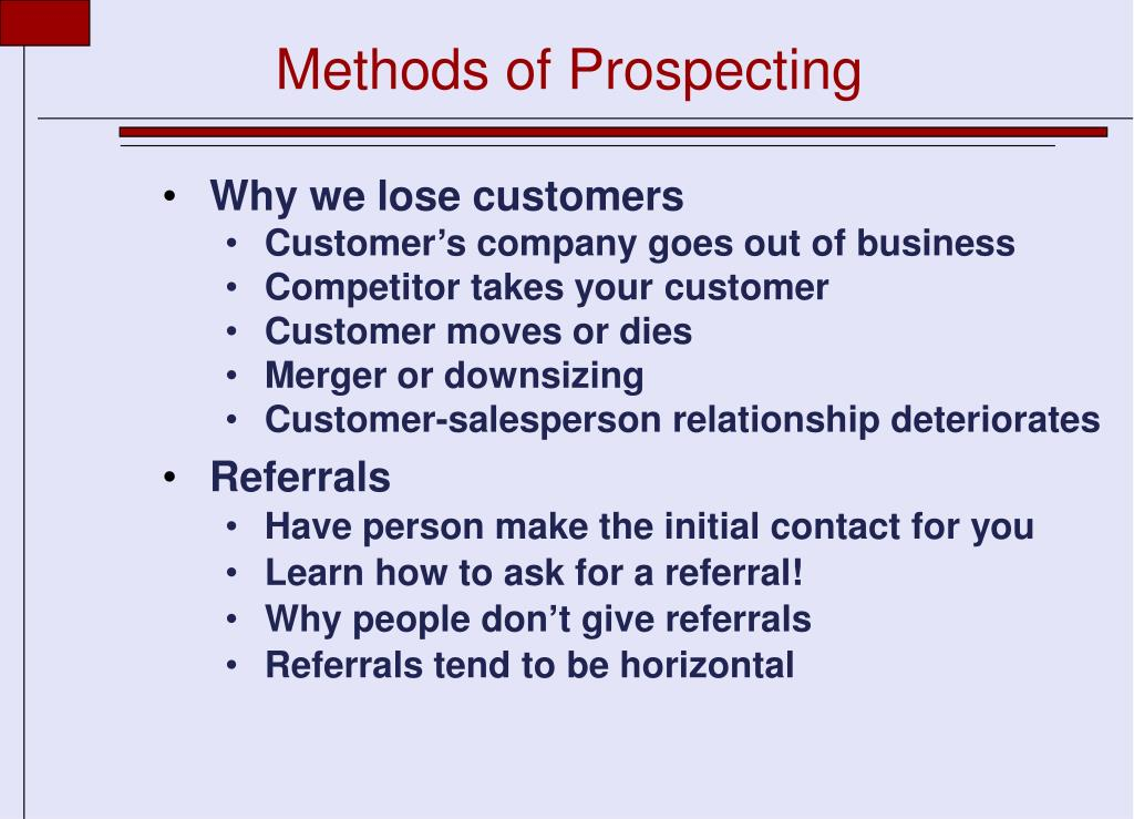 Methods of Prospecting