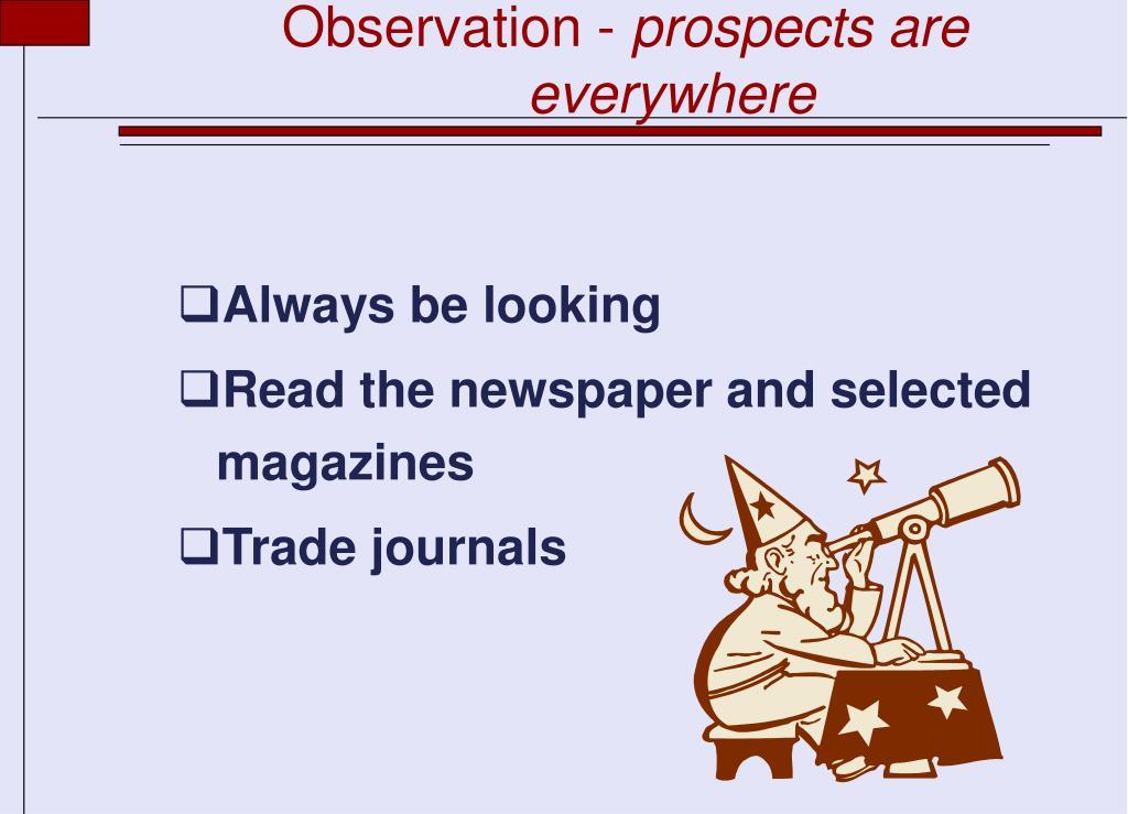 Observation -